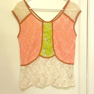 Anthropologie lace top